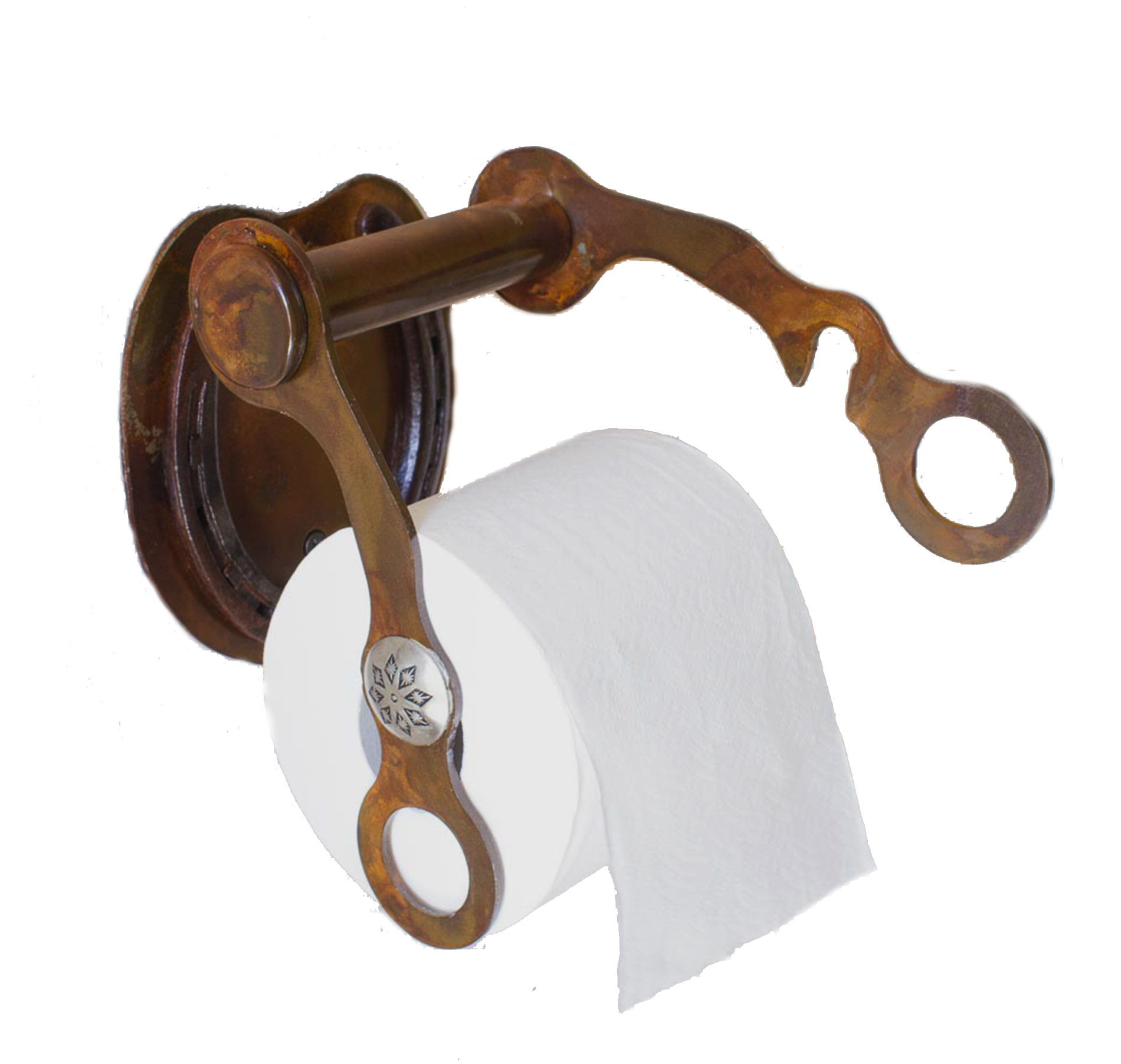 Kela Steel Mountain And Western Themed Rustic Toilet Paper Holder Functional Home Decor